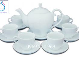 Bộ bình trà M3 cao cấp Bát Tràng in logo