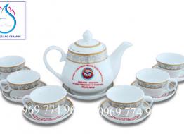 Bộ bình trà M5 cao cấp Bát Tràng in logo