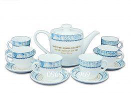 Bộ bình trà M1 cao cấp Bát Tràng in logo