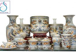 Bộ đồ thờ gốm sứ Bát Tràng mua ở đâu giá rẻ, chất lượng?