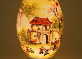 Đèn xông tinh dầu dáng trứng cao 32cm